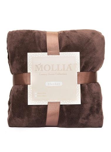 Mollia Soft Touch Çift Kişilik Battaniye Kahve